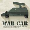 Grunge militärischen Krieg Auto-Symbol Hintergrund Konzept.