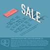 Verkauf Prozent Karte Business-Hintergrund Konzept.