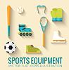 Circular Konzept der Sportwaren Aufkleber