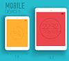 mobile elektronische Geräte auf Flachstilkonzept