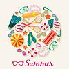 Sommer vecetion Zeit-Hintergrundkonzept