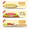 Verschiedene Gerichte icons set Konzept. Design