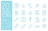 dünne Linie medizinische icons Konzept. Design
