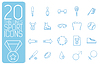 dünne Linie Sport set icons Konzept. Design