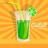 bunten Cocktail-Hintergrundkonzept