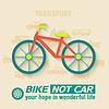 Wohnung Fahrrad-Hintergrundkonzept