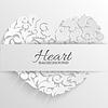 Ornament Herz dekorative Karte oder Einladung gerne