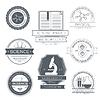 Wissenschaft Satz Etikettenvorlage von Emblem Element für