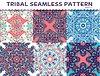 Tribal ethnischen nahtlose Muster abstrakten Hintergrund
