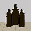 Векторный клипарт: Три бутылки воды