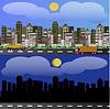 Векторный клипарт: Город панорамы