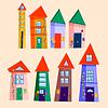 Set von niedlichen Häusern