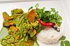 ID 4669849 | Kurczak curry z zielonymi warzywami i ryżem | Foto stockowe wysokiej rozdzielczości | KLIPARTO