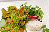 ID 4669849 | 그린 카레 야채와 쌀 치킨 | 높은 해상도 사진 | CLIPARTO