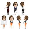 Mädchen mit Brille am Arbeitsplatz