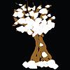 Winter-Baum mit Schnee