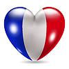Herzförmige Symbol mit Flagge von Frankreich