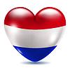 Herzförmige Symbol mit Flagge der Niederlande