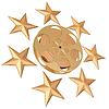 Film reel and stars | Stock Illustration