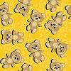 nahtloser Hintergrund mit Teddybären