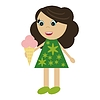 nettes kleines Mädchen mit Eis