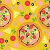 nahtloser Hintergrund mit Pizza