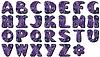 Textilsammelalbum Alphabet | Stock Vektrografik