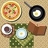 Frühstück mit Kaffee Set