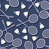 nahtlose Muster mit Badminton