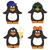 nette Pinguine auf weißem