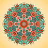 Kaleidoskop verzierten auf hellem Hintergrund