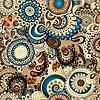 Jednolite kwiatowy wzór z doodles i ogórków | Stock Vector Graphics