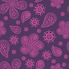 Ornamental farbige nahtlose Blumenmuster