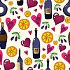 Wine nahtlose Hintergrund