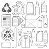 Recycling und verschiedenen Abfall Symbole