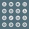 Flachstil verschiedenen Finanz Banking icons set