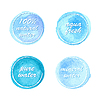Wasser-Etiketten in Aquarell-Stil eingerichtet