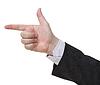Handgun sign - hand gesture | Stock Foto