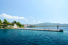 Greece, Sithonia, old pier in Neos Marmaras | Stock Foto