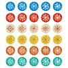 ID 4780150 | Sketch snowflakes on a white background. vector | Stockowa ilustracja wysokiej rozdzielczości | KLIPARTO