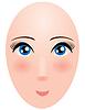 Leiter der Frau mit großen Augen. Mannequin