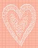 Weiß Herz auf rosa Hintergrund im Quadrat