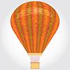 Orange Heißluftballon.