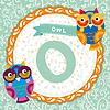 ABC Tiere: O ist Eule. Kinder Englisch Alphabet