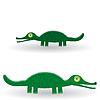 Lustige grüne Krokodil