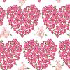 ID 4785574 | Pink heart of pansies. Seamless background | Foto stockowe wysokiej rozdzielczości | KLIPARTO
