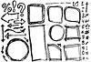 Zahlen Elemente Banner Symbole (Pfeile) Satz -
