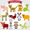 Chinesische Astrologie Reihe von lustigen Tieren