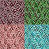 Set von 4 nahtlose Muster. Moderne stilvolle Textur.