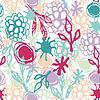 Nahtlose Muster mit Blumen, Blätter, Punkt. Skizze